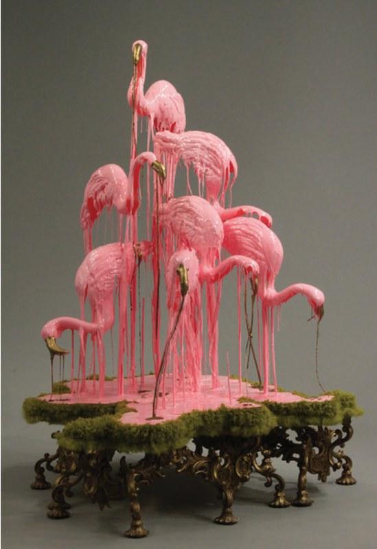 """Sarah Knouse, """"Pastoral Flamingos"""""""