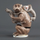 Monkey Teapot, 1735, Joachim Kändler (Meissen Porcelain with overglaze enamels; Cummer Museum of Art, Jacksonville, Fla.), courtesy of the Norton Museum of Art