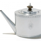 Teapot, 1785, by Paul Revere (silver, wood; the Collections of the Henry Ford, Dearborn, Mich.). Courtesy of the Norton Museum of Art