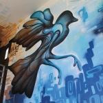 Evernia Garage Mural: Eduardo Mendieta