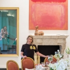 Crouching Nude, Francis Bacon (left); Reds, Mark Rothko; Han Dynasty Horse (on mantel)