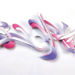 """L Fusion, maquette (2013); fabricated and painted aluminum (26""""x56""""x6"""")"""