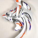 """Rapid (2010), fabricated and painted aluminum (44"""" x 33"""" x 17"""")"""