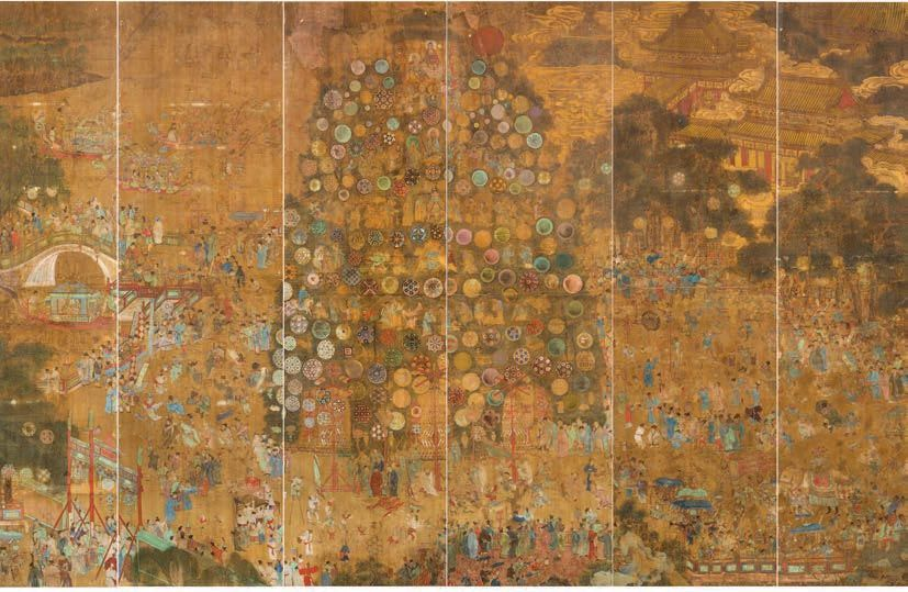 <i>The Lantern Festival</i> (Late Sixteenth Century), Ming Dynasty, Wanli Reign (1572-1620), from the  <i>Good Fortune to All: A Chinese Lantern Festival in 16th Century Nanjing</i> Inaugural Exhibition, February 2, 2019 to January 26, 2020