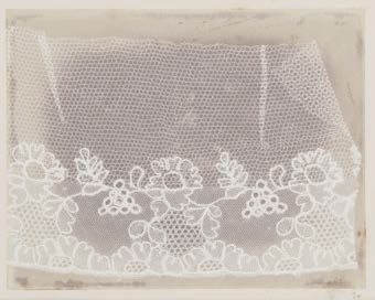 <i>Lace</i> (Before February 1845), William Henry Fox Talbot from the <out> Inaugural Exhibition, February 9 to June 16. Purchase, R.H. Norton Trust, 2017.</out>