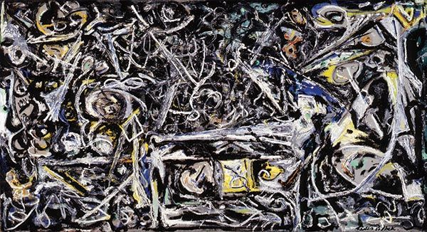 <i>Night Mist</i> (1945), Jackson Pollock, from the Norton's American Collection. Purchase, R.H. Norton Trust/© 2018 Pollock-Krasner Foundation/Artists Rights Society (ARS), New York