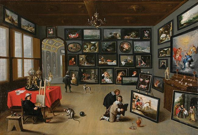<i>The Interior of A Nobleman's Gallery</i> (After 1635), David Teniers the Younger, from the Norton's Old European Collection. Gift of Valerie Delacorte in Memory of George T. Delacorte, Publisher & Philanthropist, 2007.