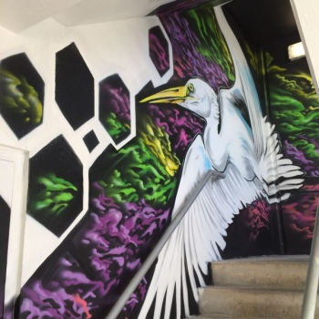 Evernia Garage Stairwell Mural