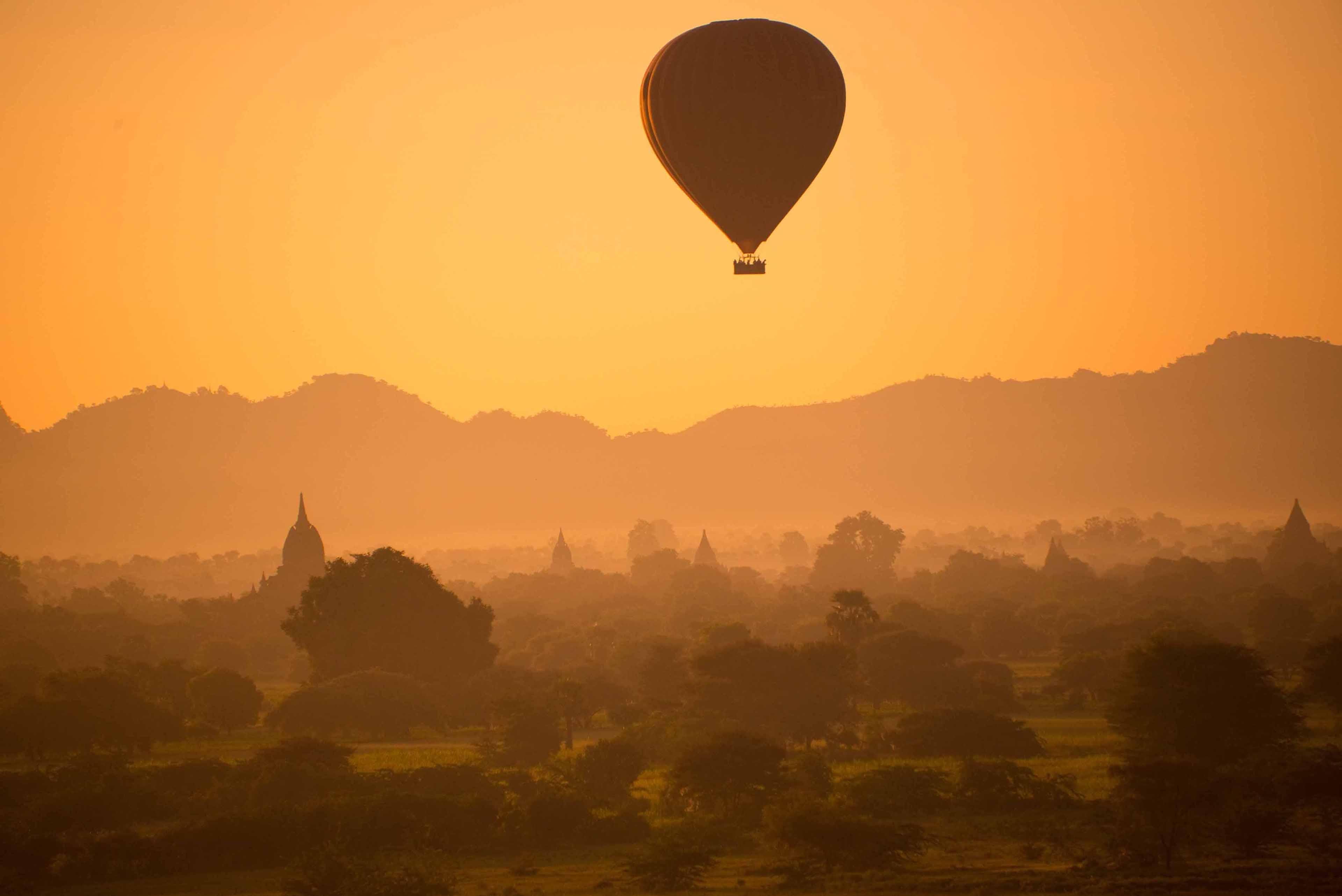 Nancy Brown, Balloon Over Bagan, 2014, Photograph, 38 x 48 inches