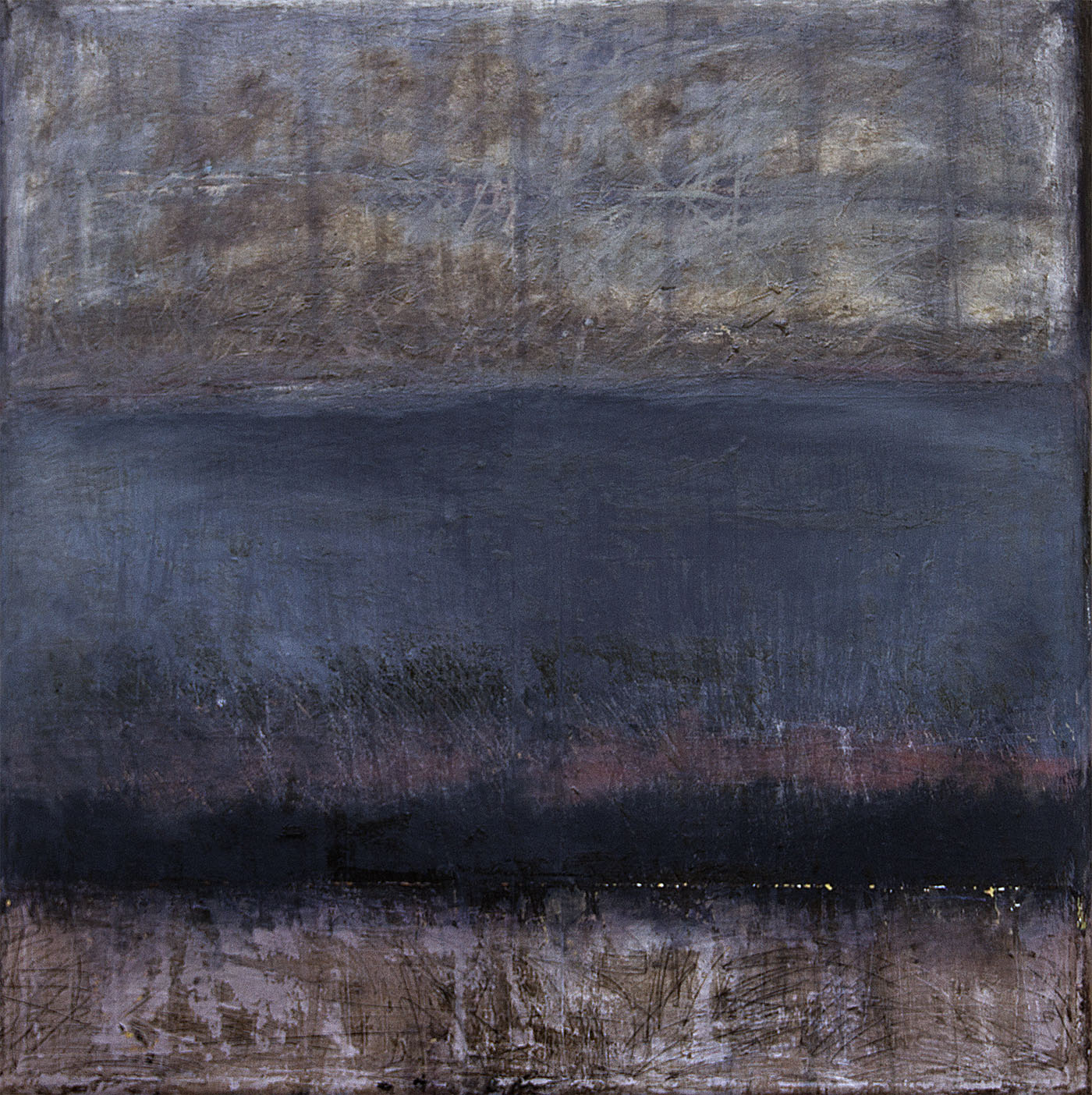Wayne Stephens, Untitled 2, 2013, Oil and mixed media on canvas, 60 x 60 inches