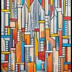 Sami Makela, Om Fug, 2015, Mixed media, 48 x 60 inches