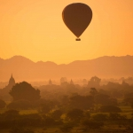 Nancy Brown, Balloon Over Bagan, 2014, Photograph, 38 x 48 inches