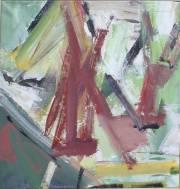 <i>Arch-Homage V</i>, 2010,  acrylic on canvas, 25 x 24 inches
