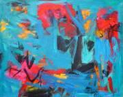 <i>Jazz Fusion</i>,  2010, acrylic on canvas, 33 x 41 inches