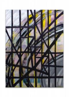 "<i>Askew</i>, acrylic on canvas, 30"" x 40"""