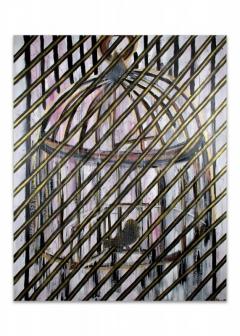 "<i>Caged</i>, acrylic on canvas, 48"" x 60"""