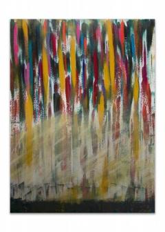 "<i>Falls</i>, acrylic on canvas, 36"" x 48"""