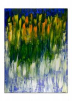 "<i>Fields</i>, acrylic on canvas, 36"" x 48"""