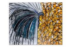 """<i>Fly</i>, acrylic on canvas, 48"""" x 60"""""""