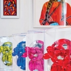 <i>Tanagers</i>, Hunt Slonem; A silk-screen portrait of Sitting Bull by Andy Warhol; a series of Jeff Koons' <i>Balloon Dogs</i>