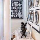 <i>Mini Meltdown (Glacier)</i>, Desire Obtain Cherish; Dalí's <i>Bronze Le Cabinet Anthropomorphique</i>; <i>Keep Creating</i>, Thierry Guetta; Black and White Plates, Piero Fornasetti