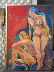 <i>Amazon Girls</i>, oil on canvas, 38 x 54