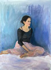<i>Ballerina Tutu</i>, oil on canvas, 36 x 48