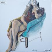 <i>Gabby</i>, oil on canvas, 30 x 30