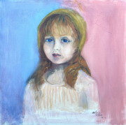 <i>God is Goodness</i>, oil on canvas, 24 x 24