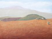 <i>Honey Field</i>, oil on wood panel, 9 x 12