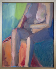 <i>Light Shapes Nude</i>, oil on canvas, 16 x 20