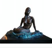 <i>Mermaid</i>, bronze, 9 x 14 x 10