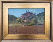 <i>Muddy Fields</i>, oil on board panel, 9 x 12