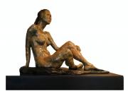 <i>Natalie</i>, cat bronze, 8 x 10 x 12