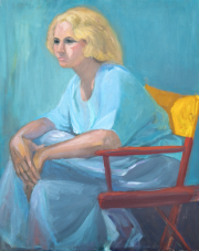 <i>Nicole</i>, oil on canvas, 24 x 30