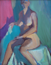 <i>Nutty Nude</i>, oil on canvas, 16 x 20