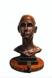 <i>Pigtails</i>, bronze, 9 x 11 x 15