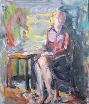 <i>Slap Dash</i>, oil on canvas, 20 x 24