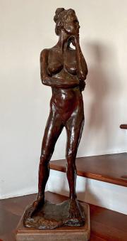 <i>Standing Nude</i>, Bronze, 12 x 30
