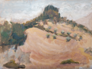 <i>Tuscan Hill</i>, oil on canvas panel, 9 x 12