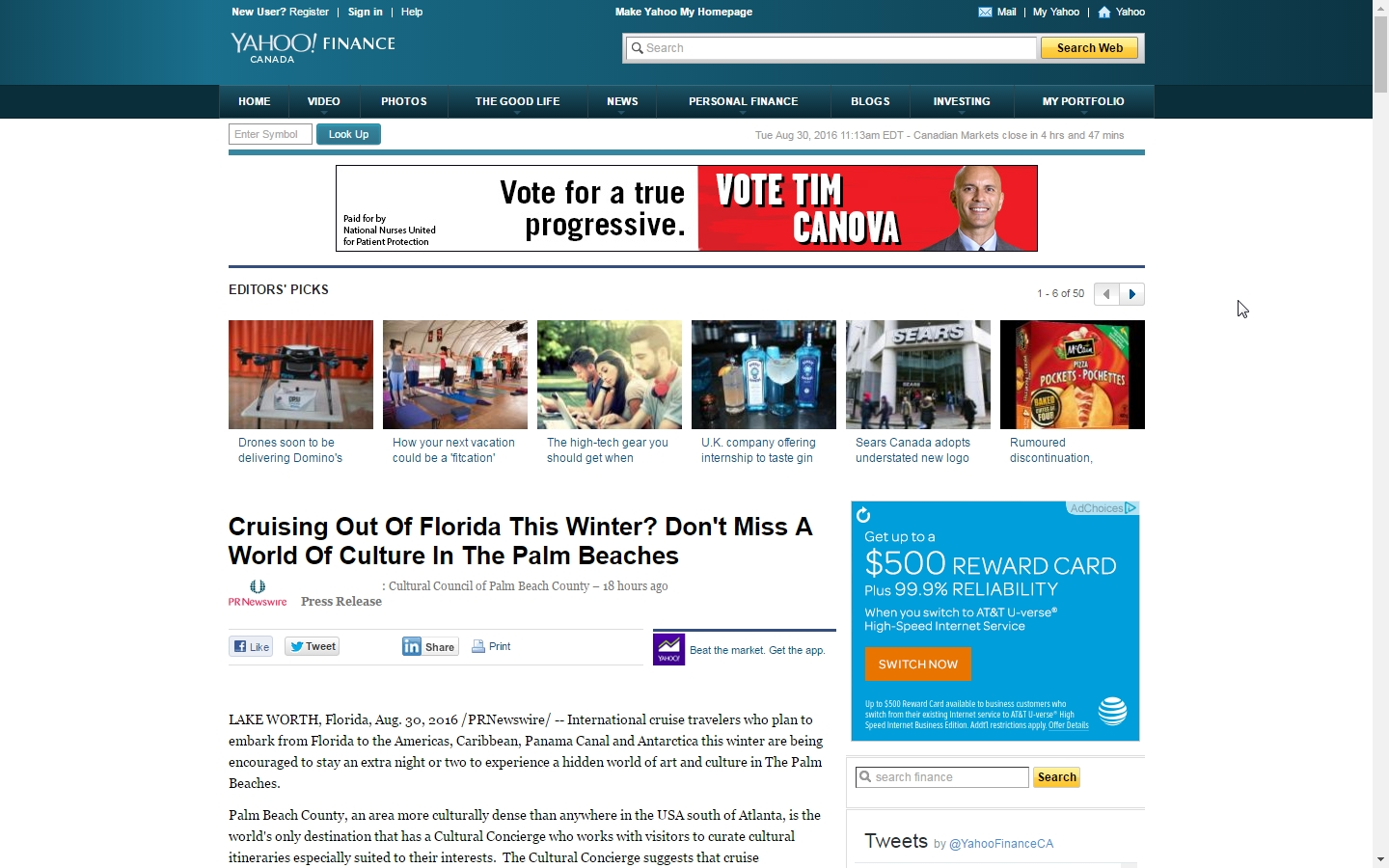 Cruising Out Of Florida This Winter - Yahoo Finance Canada
