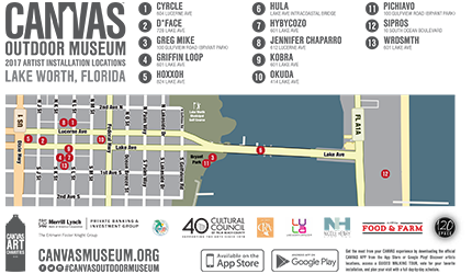 CANVAS Outdoor Museum 2017 Map