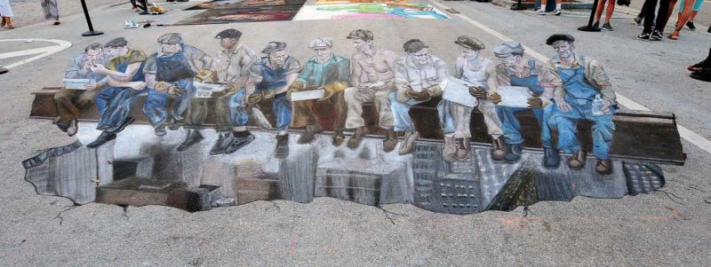 Art by The Chalk Guys, Ken Mullen and Hector Diaz