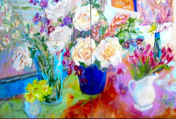 Ellen Liman - Tulips Orchids and roses