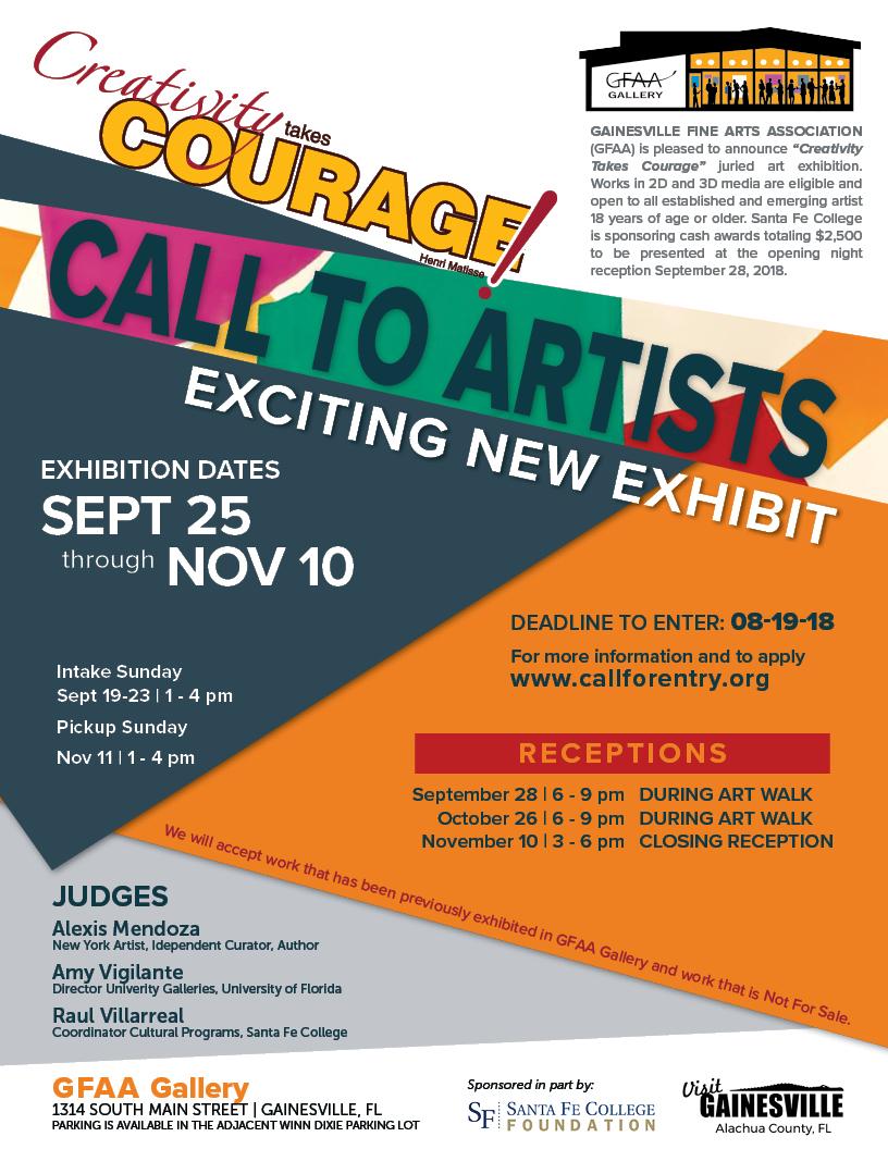 Gainesville Fine Arts Association - Creativity Takes Courage