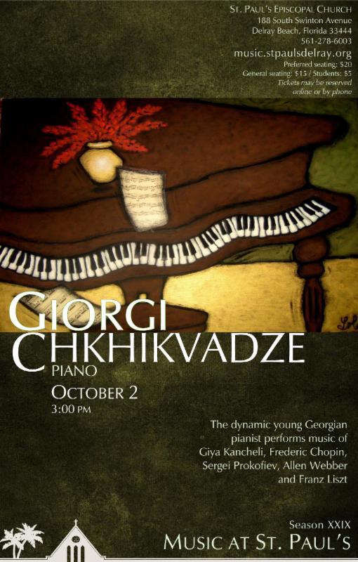 Giorgi Chkikydze, Piano