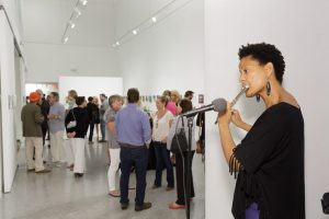 Blanche Williams at Cultural Council member preview for 10x10