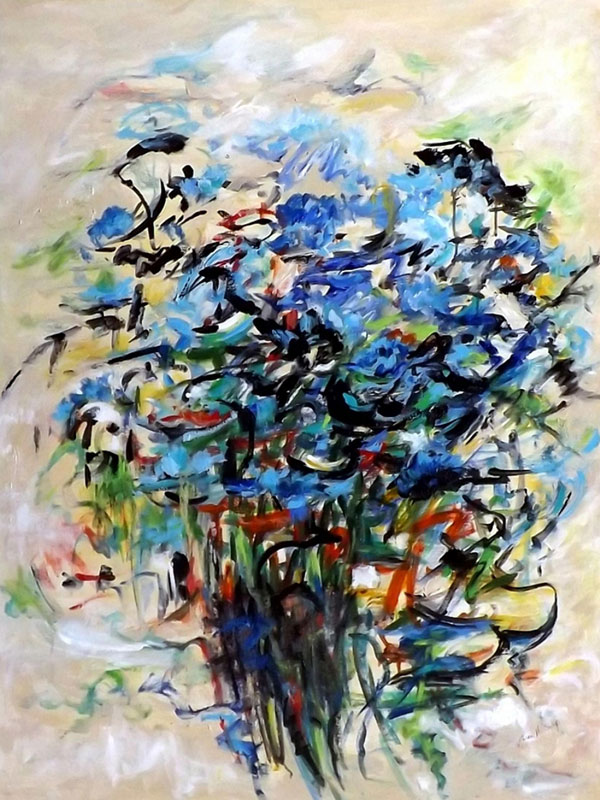 Karen H Salup - Blues Bouquet
