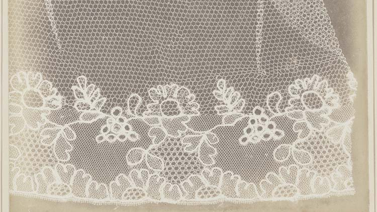 Lace - by William Henry Fox Talbot