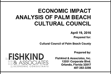 Economic Impact Analysis of Palm Beach Cultural Council